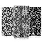 HEAD CASE DESIGNS BLACK LACE SOFT GEL CASE FOR SONY PHONES 1