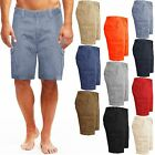 MENS CHINO CARGO SHORTS KNEE LENGTH COMBAT COTTON SUMMER  BOTTOM CASUAL PANTS