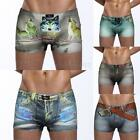 3D Sexy Shorts Men's Underwear False Belt Jeans Boxer Briefs Trunks briefs sexy