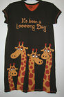 Giraffe Nightshirt Funny Sleepshirts Nightgown Womens Lazy One Sleepwear S/M