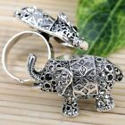 Clear Red Rhinestone Elephant Silver Plated Cocktail Finger Ring Us6.5 1x Women