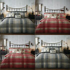 Dreams 'N' Drapes Connolly Check 100% Brushed Cotton Duvet Cover Set