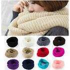 NEW Ladies Women Wool Knit Winter Warm Knitted Neck Circle Cowl Snood Scarf OD