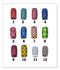 Nail art stencil vinyl stickers (12 different designs to choose from!)