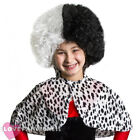 CHILDS EVIL DOG LADY WIG AND CAPE SET SCHOOL BOOK WEEK CHARACTER FANCY DRESS