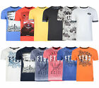 Firetrap New Men's Fashion T-shirts Crew & Vee Neck Cotton Print Plain Tee Top