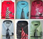 Men's Dress Shirt With Tie & Handkerchief Listing2, Assorted Colors and Sizes