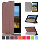 Leather Flip Stand Ultra Thin Cover Case For Amazon Kindle Fire 7 HD 8 10 2015