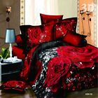 New Sexy Red Rose Quilt Covers Double Queen King Size Bed Duvet/Doona Cover Set