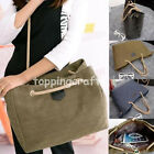 Womens Large Canvas Messenger Satchel Shoulder Bag Tote Shopper Purse Handbag