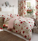 Catherine Lansfield Wild Poppies Duvet / Quilt Cover Bedding & Pillowcase Set