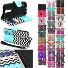For LG K10 / Premier LTE Cell Phone Case Hybrid Leather Wallet Pouch Flip Cover