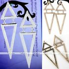Metal Korean Style Hollow Double Triangle Punk Stud Gothic Dangle Earrings Gift