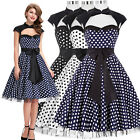 2016 Cotton 1950's 60's Vintage Style Swing Evening Party Pin Up Retro TEA Dress