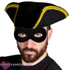 HIGHWAYMAN FANCY DRESS TRICORN HAT AND MASK SCHOOL BOOK WEEK COSTUME DICK TURPIN