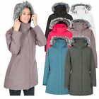 Trespass San Fran Womens Waterproof Parka Jacket with Hood Winter Raincoat