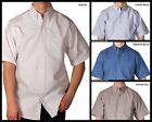 Mens Hartwell Oxford Short Sleeve Button Front Dress / Casual Shirt SM - XL  New