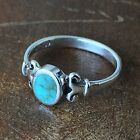 Vintage 925 Sterling Silver Stabilized Turquoise Simple Ring