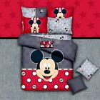 Mickey Mouse Double/Queen Bed Size New 100% Cotton Quilt/Duvet/Doona Cover Set