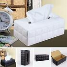Rectangle Leather Tissue Box Cover Napkin Paper Home Car Decor Hold Storage Case