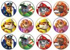 24 Paw Patrol Edible Wafer Disc Cupcake Toppers