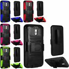 Shockproof Hybrid Armor Belt Clip Holster Stand Case Cover Stand For LG G5