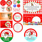 Personalised & customised Christmas stickers for sweets / biscuits / cakes