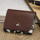 KS Fashion Men's Brown Genuine Leather Money Card Holder Coin Purse Key Pouch