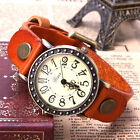 Fashion Classic Leather Strap Men's Quartz Analog Sport Wrist Watch