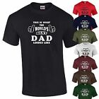 Worlds Best Dad Fathers Day T-Shirt Birthday Gift Present Pappa Mens Tee S-XXL