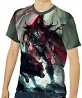 Spear Warrior Next To Black Wolf Men's Clothing T-Shirts S M L XL 2XL 3XL