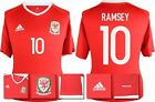 *2016 - ADIDAS ; WALES HOME SHIRT SS / RAMSEY 10 = SIZE*