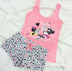 Ladies Sushi Pyjamas Primark  Vest T Shirt & Shorts