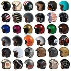 T50 Torc 3/4 Open Face Motorcycle Scooter Helmet DOT Cafe Racer Retro Vintage
