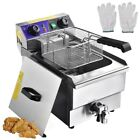 Commercial Electric Deep Fryer French Fry Bar Restaurant Tank w/ Basket Size Opt photo