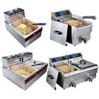 6L/10L/12L/20L Commercial Electric Deep Fryer Basket French Fry Restaurant Xmas