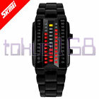 SKMEI Cosmo Ice Storm Red Flash LED Black/Silver Watch BRAND NEW MK2 ~tokyo168