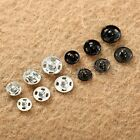 100pcs Metal Snap Fastener Press Studs Popper Button For Sewing Fabric Clothes