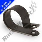 NYLON BLACK PLASTIC P CLIP CLAMP FOR CABLE CONDUIT TUBING SLEEVING FASTENING