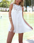 New Women Mini Lace Dress Casual Summer Sleeveless Evening Party Beach Dresses