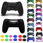 1X Silicone Cover Case &2X grip stick caps For Sony Playstation 4 PS4 Controller