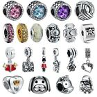 New European Silver Charm Beads Fit sterling 925 Necklace Bracelet Chain CA