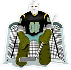 Hockey Goalie Decal Bumper Sticker