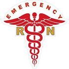 Emergency R.N. Medical (Caduceus) Logo Decals / Stickers