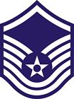 US Air Force USAF Master Sergeant Rank Insignia Decal / Sticker