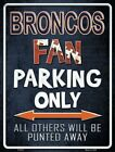"NFL Football Team 9""x12"" Metal Novelty Parking Sign ""Made In The U.S.A."" $11.99 USD on eBay"