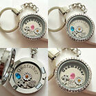 GIFT FOR GODMOTHER & GODFATHER - Personalised Keyring Floating Memory Locket