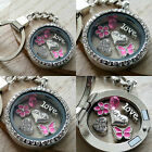 GIFT FOR GRANDMA NANA NAN - Personalised Keyring Necklace Floating Memory Locket
