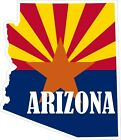 Arizona Map Flag Decals / Stickers