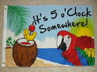 "2' X 3' JIMMY BUFFETT ""IT'S 5 O'CLOCK SOMEWHERE"" FLAG 2X3"